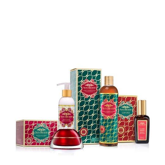 ערכת מתנה - סבון אכילאה, סרום קלאסי, ביוטילי קרם וקרם גוף