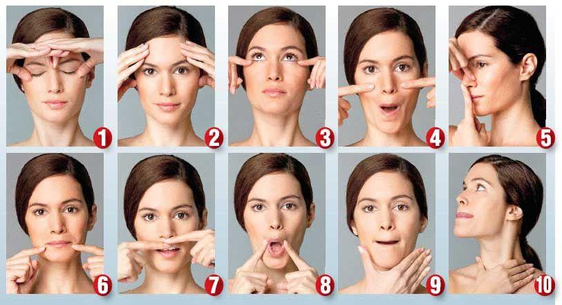 עיסוי פנים נגד קמטים